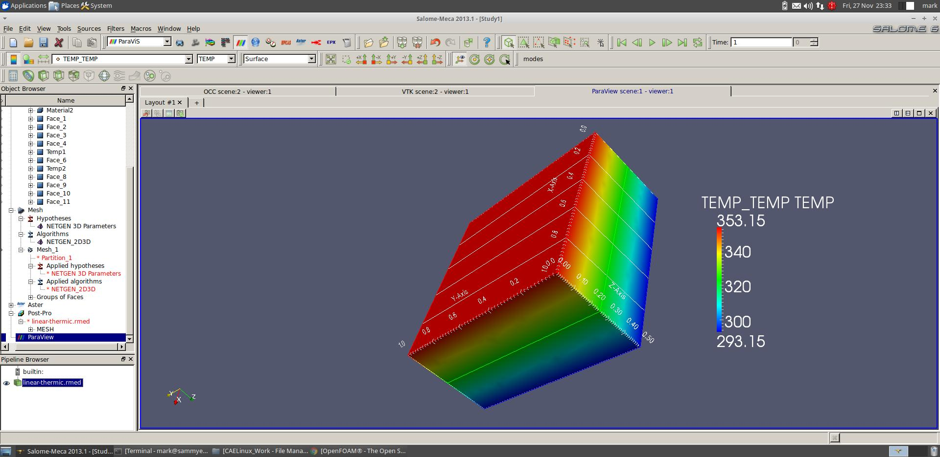 Thermal Analysis Using CAELinux